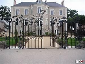 Portail En Fer Lapeyre : portail en fer coulissant ~ Premium-room.com Idées de Décoration