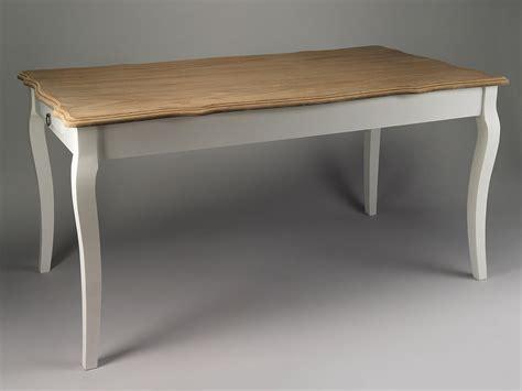 table en bois blanche table de s 233 jour blanche et plateau en bois naturel simla