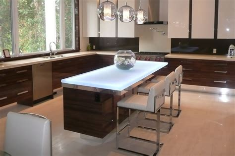 kitchen island countertop 6 popular glass countertop types cgd glass countertops