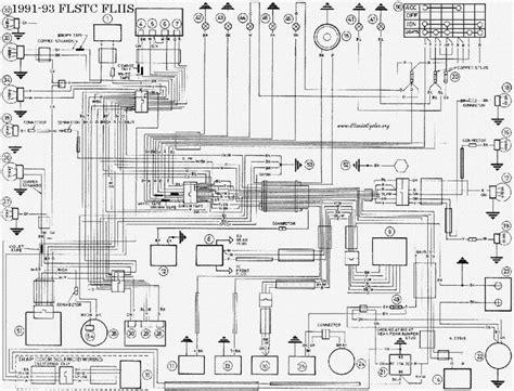 93 Dyna Wiring Diagram by Harley Davidson 1991 93 Flstc Flhs Wiring Diagram Service