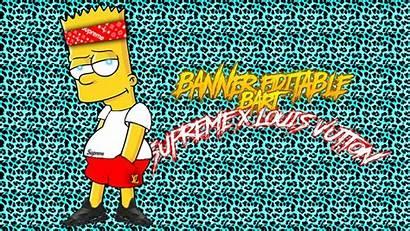 Bart Supreme Simpson Louis Vuitton Banner Cool