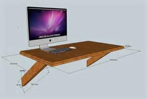 Floating Computer Desk Plans