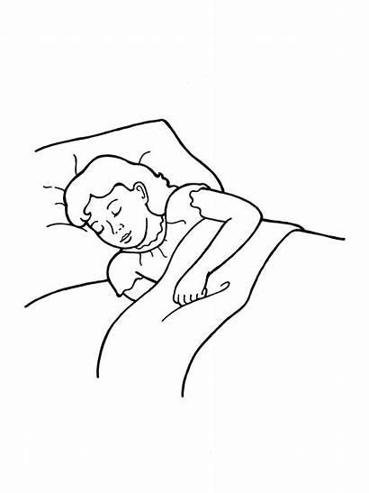Sleeping Bed Clipart Sleep Drawing Clip Asleep