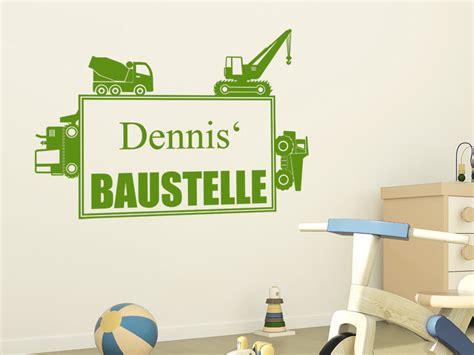 Kinderzimmer Deko Baustelle by Wandtattoo Baustelle Mit Name Wandtattoo De