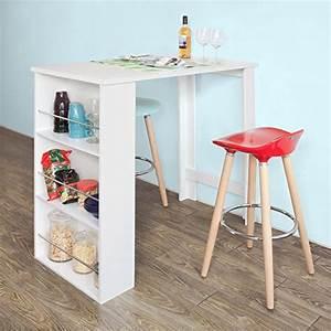 Bartisch Mit Regal : sobuy bartisch beistelltisch stehtisch k chentheke k chenbartisch mit 3 regalf chern ~ Indierocktalk.com Haus und Dekorationen