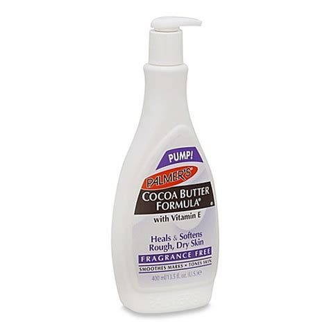 palmer 39 s 13 5 oz cocoa butter formula body lotion fragrance free bed bath beyond