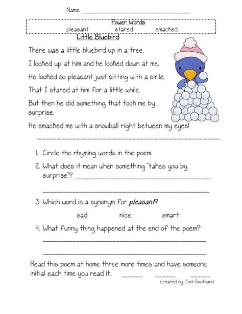 5th grade reading comprehension worksheets free printable