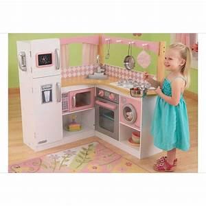 Cuisine Enfant En Bois : cuisine pour enfant en bois grand gourmet corner kitchen de kidkraft ~ Teatrodelosmanantiales.com Idées de Décoration