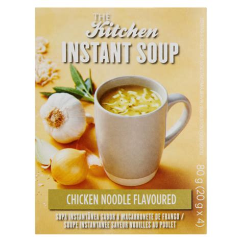 kitchen chicken noodle flavoured instant soup packets