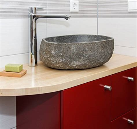 naturstein waschbecken steinwaschbecken wohnfreuden naturstein waschbecken 40 cm oval stein aufsatzwaschbecken f 252 r g 228 ste wc bad einzeln