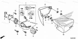 Honda Motorcycle 2015 Oem Parts Diagram For Side Cover