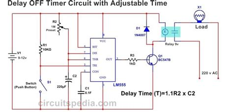 Delay Off Timer Circuit For Before Turn