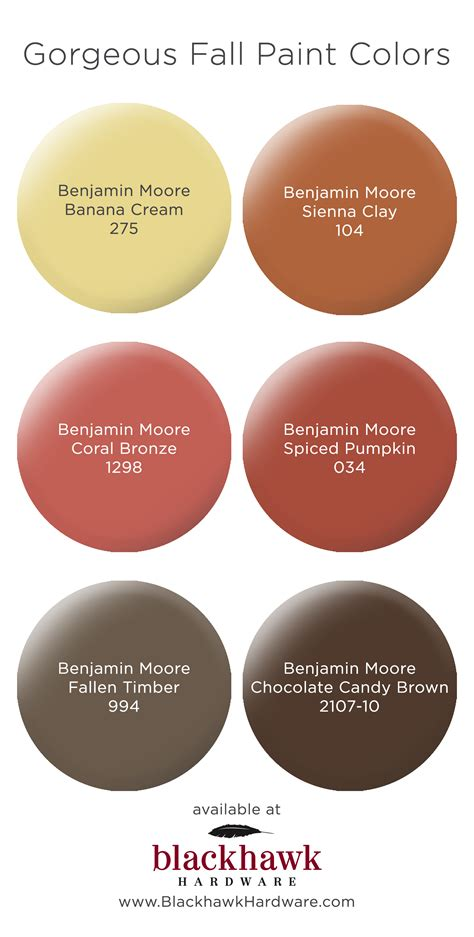 fall inspired paint colors by benjamin blackhawk