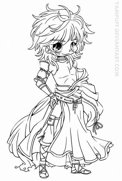 Chibi Coloring Pages Yampuff Vampire Adults Deviantart