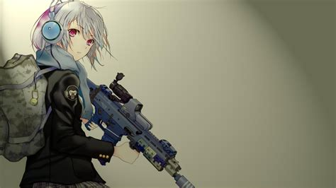 Anime Gun Wallpaper - anime anime gun headphones original characters