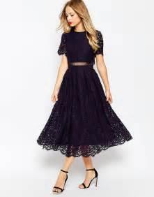 brautkleider schwarz asos asos lace crop top midi prom dress at asos