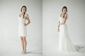 did anyone wear a 2 in 1 or convertible dress dress with With convertible wedding dresses detachable skirts