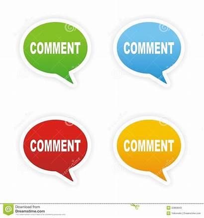 Comment Text Bubble Stickers Interface User Suitable