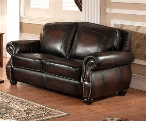Leather Loveseat With Nailhead Trim by Hyde 100 Leather Loveseat Brass Nailhead Trim Usa