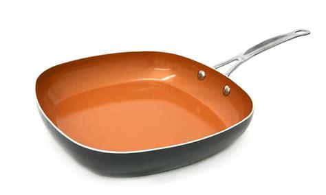 gotham steel deep square nonstick copper frying pan    tv groupon