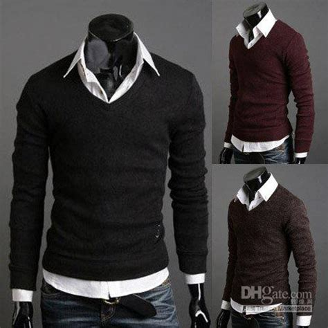 2018 Mens Cashmere Sweaters Mens Black Sweaters Men Fashion Clothing Wool Sweaters #ms154 From ...