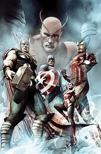 The original Avengers by Adi Granov - Thor, Iron Man, Wasp ...