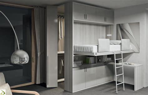 armadio a letto letto singolo con cabina armadio loreb arredo design
