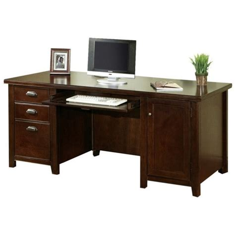 double desk home office martin furniture tribeca loft double pedestal wood