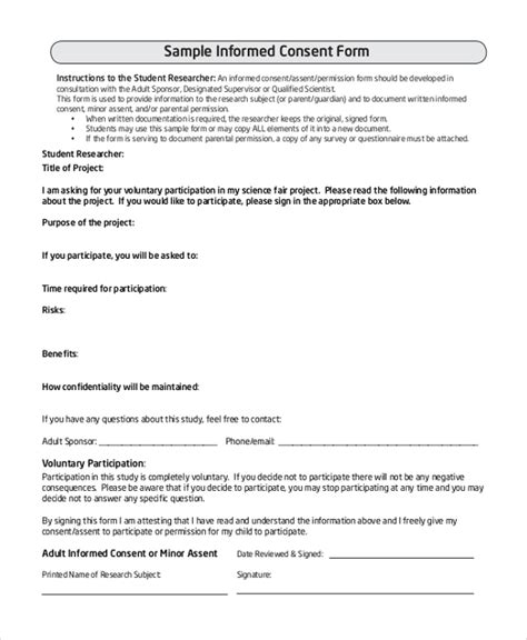 15278 survey consent form template sle survey consent forms 8 free documents in pdf word