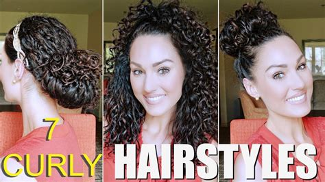 easy naturally curly hairstyles the glam belle youtube