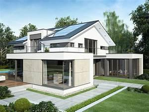 Fertighaus Mit Anbau : bauhaus architektur mit satteldach einfamilienhaus ~ Lizthompson.info Haus und Dekorationen