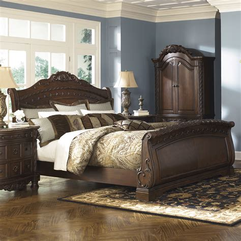Shore Sleigh Bedroom Set by Signature Design By Shore Sleigh Customizable