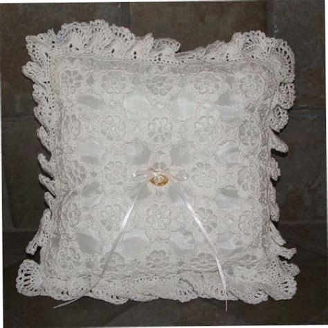 crochet pattern floral crochet ring bearer pillow crochet pattern floral crochet ring bearer pillow