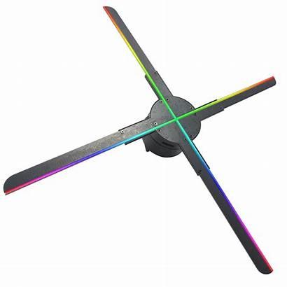 Hologram Advertising Led Giwox Fan Projector Blades