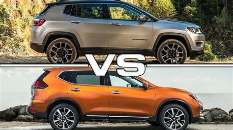 nissan jeep 2017 2017 jeep compass vs 2017 nissan rogue youtube
