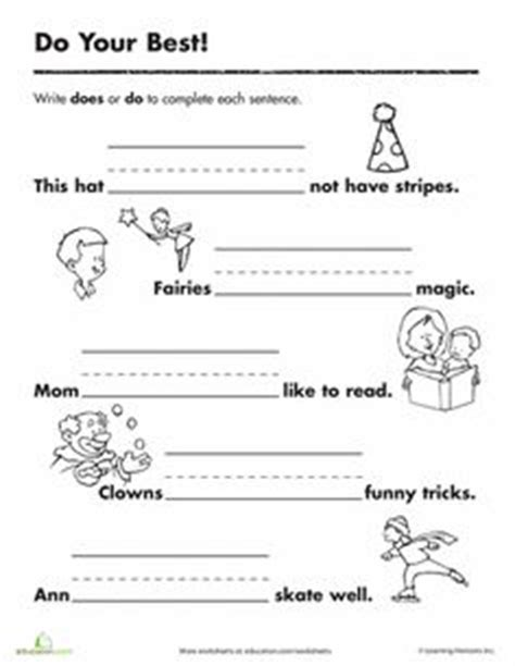 school st grade images worksheets grammar