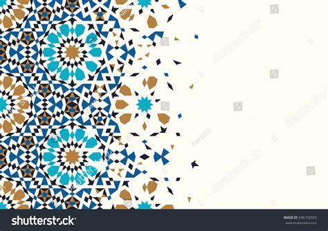 white arabesque morocco disintegration template islamic mosaic design