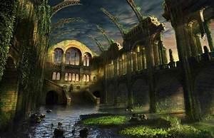 Ruins, Postapocalyptic, Artwork, 1600x1034, Wallpaper, High, Quality, Wallpapers, High, Definition, Wallpapers