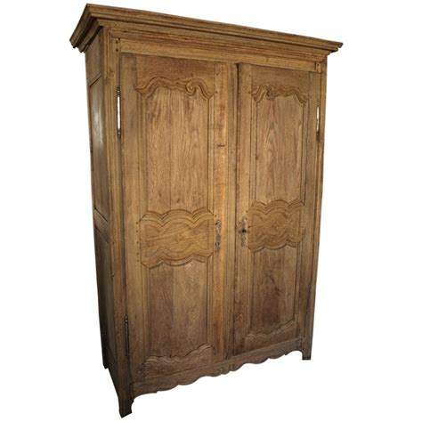 Country Style Armoires Antique Country Style Armoire In Washed Oak