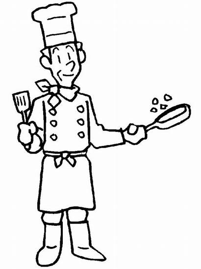 Helpers Community Coloring Chef Helper Clipart Cook