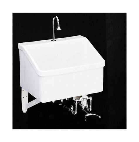 Kohler Utility Sink Drain by Kohler K 12793 0 White Hollister Utility Sink With Single