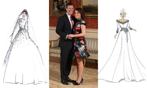 Princess Eugenie's Wedding Dress Sketches By 7 Top