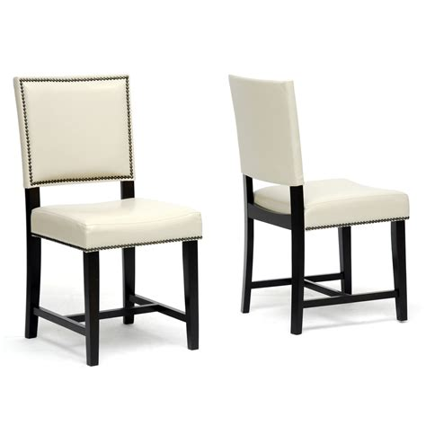 white faux leather dining chairs decor ideas
