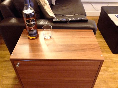 fyndig side table mini bar ikea hackers
