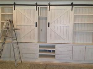 sliding barn doors january 2015 With barn door style entertainment center