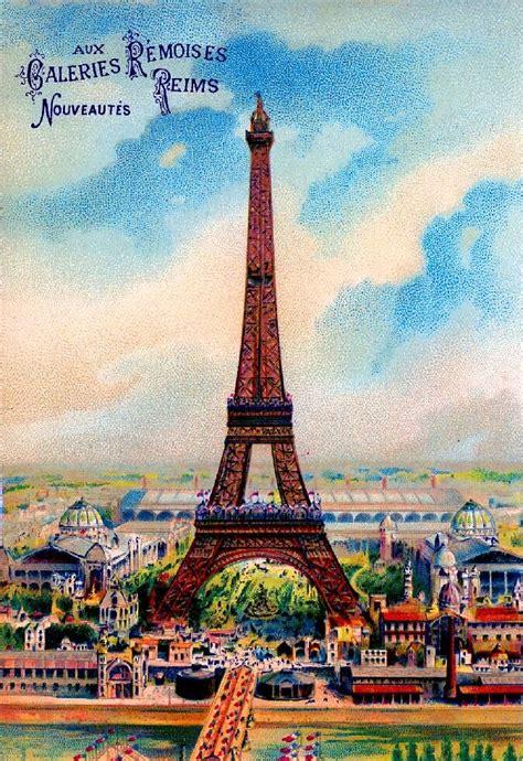 paris france french eiffel tower vintage european travel