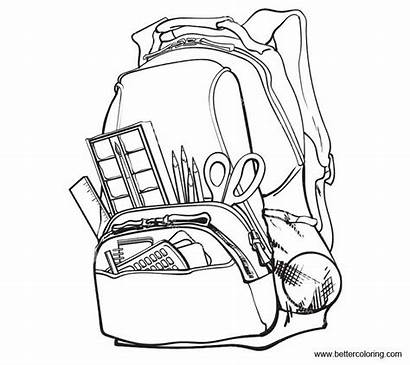 Coloring Supplies Bag Pages Printable Adults