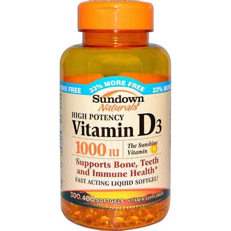 vitamin d l sundown naturals vitamin d3 1000 iu 400 softgels