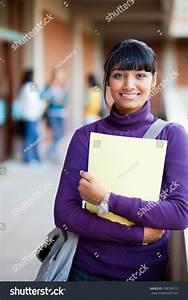 Cute Indian High School Girl School Stock Photo 108794732 ...