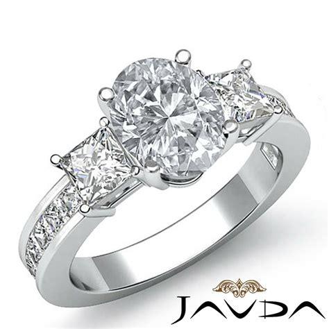 flashy oval diamond three stone engagement ring gia i